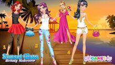 GirlGames4u.com Choose your #glamorous sunset #outfit! ***  #Game's link: http://www.girlgames4u.com/sunset-glam-beauty-makeover-game.html ✿ ✿ ✿