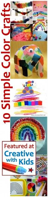 10 Simple Color Crafts- Rainbows, color mixing and more