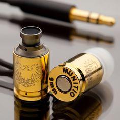 Gold 9mm Earphones