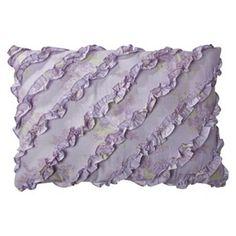 Simply Shabby Chic® Lilacs Batiste Ruffle Pillow