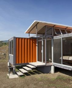 Vivienda con 2 contenedores de 40 pies - Casas Ecologicas