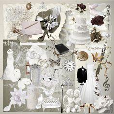 DOWNLOAD Digital Scrapbook Kit - Wedding Day