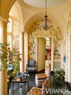 decor, breakfast rooms, chair, interior, mile redd, hous, design mile, veranda, painted walls
