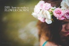 DIY: how to make a flower crown photo