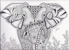 Enchanting Elephant | Zentangled Zoo
