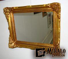 Miralo Enmarcado - Taller de Marcos Cuadros y Espejos: Restauracion de marcos antiguos / Conversiones a espejos / Dorados y plateados a la hoja