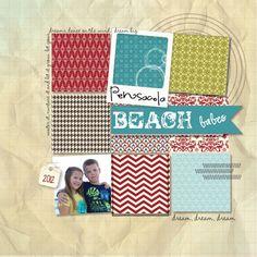 Stampin' Up! My Digital Studios  by Kimberly Van Diepen  Digital Scrapbook: Pensacola Beach Babes