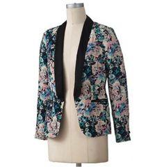 floral print blazer $28