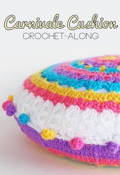 CAL Crochet along Carnivale Cushion