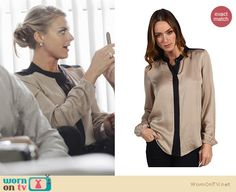 Jane's blouse from Happy Endings is still available for $235