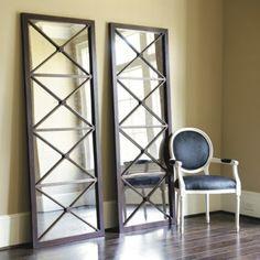 Floor Mirrors.  These I find much more interesting than the standard floor mirror.  - Ballard Designs