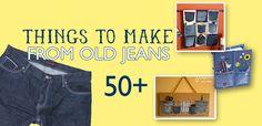 fun craft, cloth, repurposing denim ideas, denim crafts, 50 idea, diy project, craft ideas, jean project, old jeans