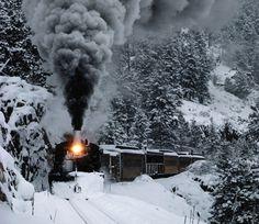 Durango Silverton train in winter <3