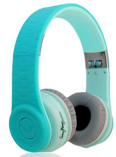 Love Fanny Wang headphones - cool colors + smart double jack so you can share music easily.