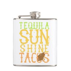 Tequila Sunshine Tacos Flask