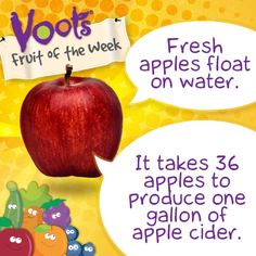 Fun facts on #apples, the Voots Fruit of the Week! Our Voots Price Pack has arrived.  Upcoming Giveaway !