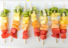 fruit skewers party food  | Photos by Birds of a Feather | 100 Layer Cake