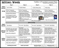 FREE Mitten Lesson Plans from Me & Marie Learning