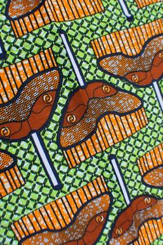 Africa   Ghana Wax Batic Print Fabric