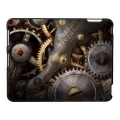 Steampunk - Gears - Horology Ipad Case by suburbanscenes    ---Mike Savad