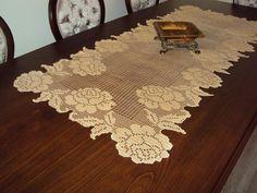caminho de mesa croche