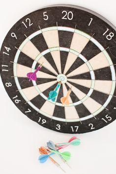 DIY Fancy up a dartboard. I love this!