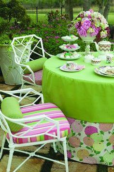 Let's have tea in the garden