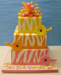 Colorful Zebra by LovelyCakes.net, via Flickr