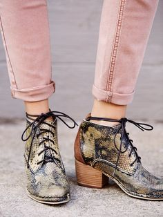 lace up croc booties