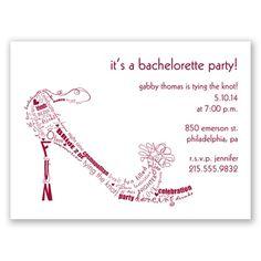 Bachelorette Shoe Party Invitation by David's Bridal #bacheloretteparty #invitation #davidsbridal