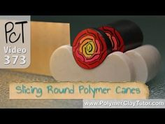 Keep Round Polymer Canes From Distorting When Slicing Them by Polymer Clay Tutor