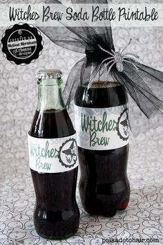 Love These Free Halloween Printable For 6 Pack and 2 Liter Size Soda Bottles  !