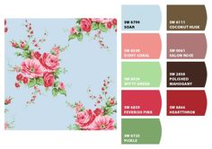 Paint colors from Chip It! by Sherwin-Williams Cath Kidston Fabric