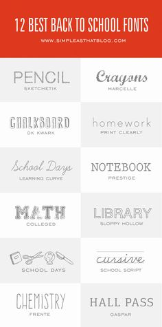 12 of the Best Fonts for Back to School