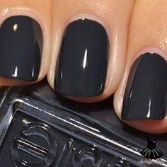 winter nails essie, nail polish, nail colors, black nails, fall nails essie