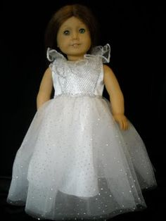 """something from nothing dress  Pattern is from """"Sew the Storybook Wardrobe for 18"""" Dolls"""" by Joan Hinds.  I checked it out from the public library"""
