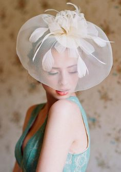 Exquisite Veiled Headband, $ 29 >> SO beautiful for a wedding!  via Ruche