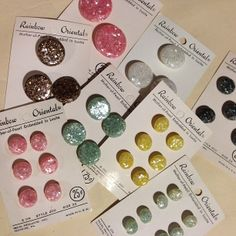 Enjoying my #vintage finds! #pastel #pearl #sparkle #buttons