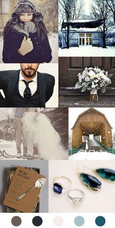 Fun winter wedding.