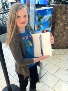 Charlotte with her new iPad...proud owner!