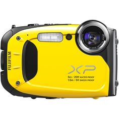 Fujifilm FinePix XP60 16.4MP Digital Camera with 2.7-Inch LCD (Yellow) Fujifilm,http://www.amazon.com/dp/B00ATM1MF6/ref=cm_sw_r_pi_dp_98qIsb0FEX7ZCJ6N $152