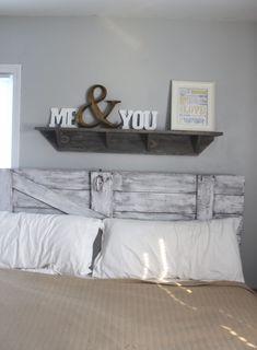 DIY Shelf above Bed