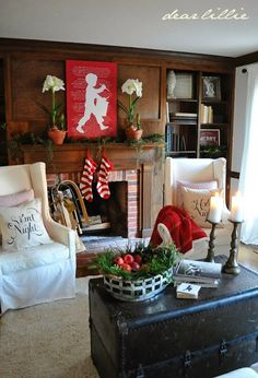 house tours, little red, boy art, dear lilli, red christmas, christmas houses, canvases, drummer boy, cozy christmas