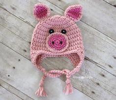 hats, crochet pig hat pattern, crochet hat, pigs, hat patterns, diy idea, crochet pig free patterns, crochetpig hat, repeat crafter