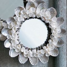 Delicate, beautiful abalone mirror