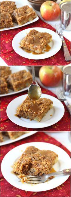 Apple Coffee Crumb Cake with Brown Sugar Glaze on twopeasandtheirpod ...