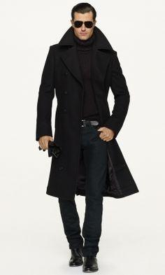 Wool Officer's Coat - Ralph Lauren