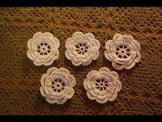 Pequeño crochet roseta