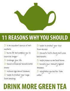 Reasons to drink green tea