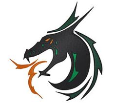 Heads Embroidery Design: Dragon Head from King Graphics